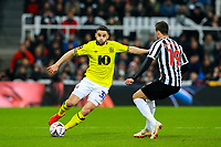 Blackburn Rovers' Craig Conway takes on Newcastle United's Javi Manquillo<br /> <br /> Photographer Alex Dodd/CameraSport<br /> <br /> Emirates FA Cup Third Round - Newcastle United v Blackburn Rovers - Saturday 5th January 2019 - St James' Park - Newcastle<br />  <br /> World Copyright &copy; 2019 CameraSport. All rights reserved. 43 Linden Ave. Countesthorpe. Leicester. England. LE8 5PG - Tel: +44 (0) 116 277 4147 - admin@camerasport.com - www.camerasport.com