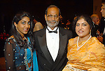 Sri Reddy, Gopal Reddy and Vanaja Reddy at the Indian Film Festival Celebrity Gala at the InterContinental Hotel Saturday evening Sept. 26,2009. (Dave Rossman/For the Chronicle)