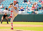 8 March 2006: John Webb, pitcher for the St. Louis Cardinals, winds up during a Spring Training game against the Washington Nationals. The Cardinals defeated the Nationals 7-4 in 10 innings at Space Coast Stadium, in Viera, Florida...Mandatory Photo Credit: Ed Wolfstein.