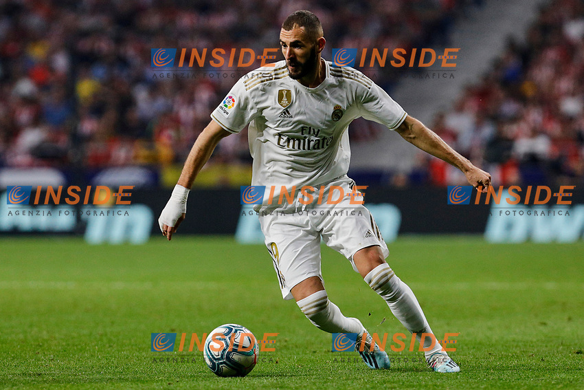 Karim Benzema of Real Madrid during La Liga match between Atletico de Madrid and Real Madrid at Wanda Metropolitano Stadium in Madrid, Spain. September 28, 2019. (ALTERPHOTOS/A. Perez Meca)<br /> Liga Spagna 2019/2020 <br /> Atletico Madrid - Real Madrid <br /> Foto Perez Meca Alterphotos / Insidefoto <br /> ITALY ONLY