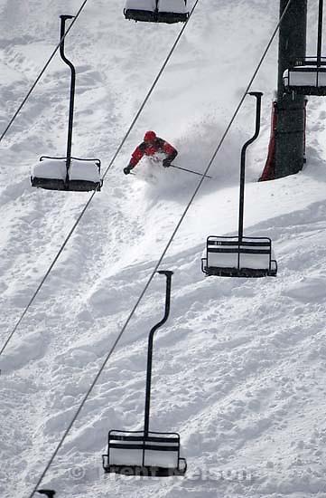 Skiing skiier at brighton<br />