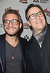 Jeff Marx & John Bucchino sporting a pair of signature 'Ralphie' specs at the Broadway Opening Night Performance for 'A Christmas Story - The Musical'  at the Lunt Fontanne Theatre in New York City on 11/19/2012.
