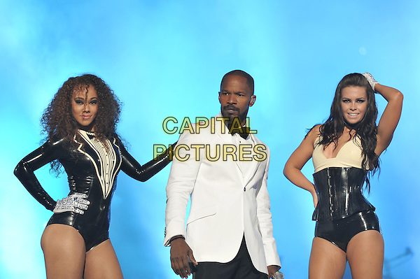 Jamie Foxx .Michael Forever Tribute Concert at The Millenium Stadium, Cardiff, Wales, UK 8th October 2011.performing live in on stage .CAP/MAR.© Martin Harris/Capital Pictures.
