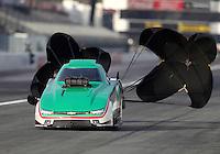 Feb 9, 2017; Pomona, CA, USA; NHRA top alcohol funny car driver Ulf Leanders during qualifying for the Winternationals at Auto Club Raceway at Pomona. Mandatory Credit: Mark J. Rebilas-USA TODAY Sports