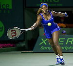Serena Williams (USA) loses her match  at the Sony Ericsson Open in Key Biscayne, Florida on March 27, 2012.