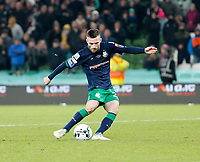 3rd November 2019; Aviva Stadium, Dublin, Leinster, Ireland; FAI Cup Final Football, Dundalk Football Club versus Shamrock Rovers; Jack Byrne scores his penalty for Shamrock Rovers in the shoot out - Editorial Use