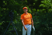 Rickie Fowler (USA) watches his tee shot on 8 during round 4 of the Fort Worth Invitational, The Colonial, at Fort Worth, Texas, USA. 5/27/2018.<br /> Picture: Golffile | Ken Murray<br /> <br /> All photo usage must carry mandatory copyright credit (© Golffile | Ken Murray)