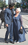 Ali Fazal and Judi Dench attends the 'Victoria & Abdul' premiere during the 2017 Toronto International Film Festival at Princess of Wales Theatre on September 10, 2017 in Toronto, Canada.
