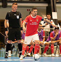20191012 - HALLE: Bruno Coelho is pictured during the UEFA Futsal Champions League Main Round match between FP Halle-Gooik (BEL) and SL Benfica (POR) on 12th October 2019 at De Bres Sportcomplex, Halle, Belgium. PHOTO SPORTPIX | SEVIL OKTEM