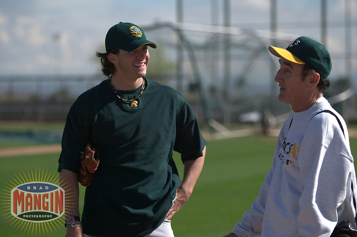 Barry Zito. Baseball: Oakland Athletics spring training camp at Papago Park. Phoenix, AZ 2/24/2005 MANDATORY CREDIT: Brad Mangin/Sports Illustrated