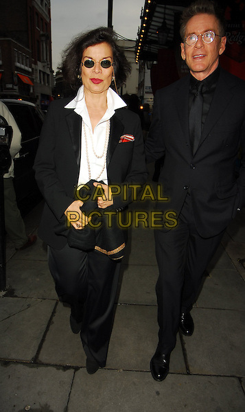 BIANCA JAGGER & GUEST.At the Theatre Museum Fundraising Reception, Theatre Museum, London, England, May 16th 2006..full length white shirt black sunglasses round.Ref: CAN.www.capitalpictures.com.sales@capitalpictures.com.©Can Nguyen/Capital Pictures