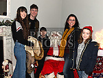 The Sheridan family who met Santa at the Dunleer Christmas Fair in the Market House. Photo:Colin Bell/pressphotos.ie