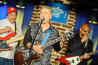 Chuck Berry and Johnny Rivers in concert in Duck Room at Blueberry Hill in University City, MO on Oct 12, 2011.