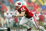 Madison, Wisconsin - 9/13/03. University of Wisconsin tight end Jason Pociask (84) during the UNLV game at Camp Randall Stadium. UNLV beat Wisconsin 23-5. (Photo by David Stluka)