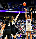 November 17, 2018: #24 Naphessa Collier scores two of her 15 as the UCONN ladies defeat Vanderbilt, 80-42 at the Mohegan Sun in Uncasville, Ct. Dan Heary/Eclipse Sportswire/CSM