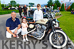 Keith, Holly and Luke Darcy Knocknagoshel checking out the Harley Davidson at the Bike fest on Sunday