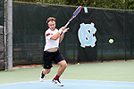 CHAPEL HILL, NC - MAY 12: South Carolina's Gabriel Friedrich (BRA). The University of South Carolina Gamecocks played the East Tennessee State University Buccaneers on May 12, 2017, at The Cone-Kenfield Tennis Center in Chapel Hill, NC in an NCAA Division I Men's College Tennis Tournament first round match. South Carolina won 5-0.