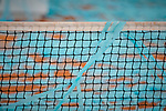 The net during the Mutua Madrid Open Masters match on day eight at Caja Magica in Madrid, Spain.May 11, 2019. (ALTERPHOTOS/A. Perez Meca)