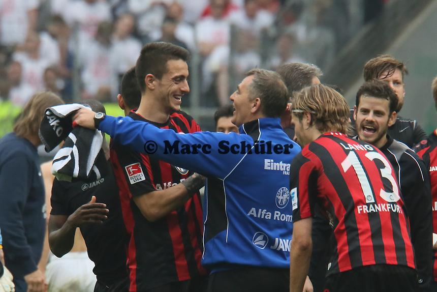Siegesjubel Eintracht  um Joselu - Eintracht Frankfurt vs. 1. FSV Mainz 05