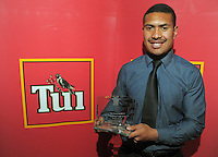 Most Promising Player of the Year Ardie Savea at the Wellington Rugby Union Tui Awards at the Embassy Theatre, Wellington, New Zealand on Tuesday, 30 October 2012. Photo: Dave Lintott / lintottphoto.co.nz