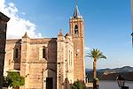 Sixteenth century church of Purisima Concepcion in village of Zufre, Sierra de Aracena, Huelva province, Spain