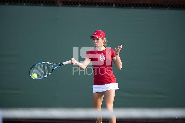 Elizabeth Ecker of the 2010 Stanford women's Tennis Team.