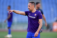 Franck Ribery of ACF Fiorentina reacts prior to the Serie A football match between AS Roma and ACF Fiorentina at stadio Olimpico in Roma (Italy), July 26th, 2020. Play resumes behind closed doors following the outbreak of the coronavirus disease. <br /> Photo Antonietta Baldassarre / Insidefoto