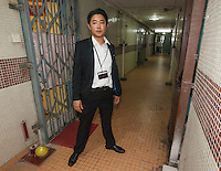 A Hong Kong police officer is seen outside the last known residence of fugitive rapist Joseph Tsang before his arrest at Lei Tung Estate, Ap Lei Chau, Hong Kong, China, 25 September 2015. Joseph Tsang was charged and convicted of raping underage girls and possession of child pornorgaphy by Oxford Crown Court in August, but skipped bail to flee to his native Hong Kong before sentencing.