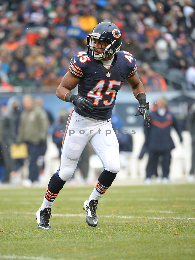 Chicago Bears Brock Vereen (45) during a game against the Minnesota Vikings on November 16, 2014 at Soldier Field in Chicago, IL. The Bears beat the Vikings 21-13.
