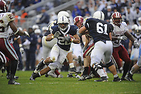 15 November 2008:  Penn State RB Evan Royster (22) breaks several tackles during a19 yard TD run during the 3rd quarter..The Penn State Nittany Lions defeated the Indiana Hoosiers 34-7 at Beaver Stadium in State College, PA..