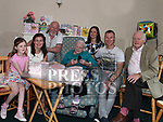 Anna Maguire celebrating her 104th birthday with great grandaughter Lacey Maguire, grandaughter Eleanor Maguire, son Frank, grandaughter Catherine Maguire, grandson Joe Maguire and nephew Brendan Clinton in Boyne Valley Nursing Home Dowth. Photo:Colin Bell/pressphotos.ie