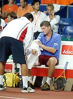 22-9-06,Leiden, Daviscup Netherlands-Tsjech Republic, Chech bench with Novak and Navratil