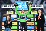 Michal Kwiatkowski (POL) Team Sky wins the points Green Jersey of the 77th edition of Paris-Nice 2019 at the end of Stage 8 running 110km from Nice to Nice, France. 16th March 2019<br /> Picture: ASO/Alex Broadway | Cyclefile<br /> All photos usage must carry mandatory copyright credit (&copy; Cyclefile | ASO/Alex Broadway)