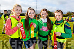 Debora Canty, Edele Browne, Grace Stack and Brid Horan from Causeway Comp School at the KETB Schools Senior Cycle Tag Rugby blitz in the Kerry Sports and Leisure Centre, Tralee on Monday.