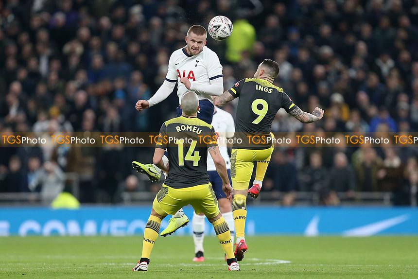 Eric Dier of Tottenham Hotspur and Danny Ings and Oriol Romeu of Southampton during Tottenham Hotspur vs Southampton, Emirates FA Cup Football at Tottenham Hotspur Stadium on 5th February 2020