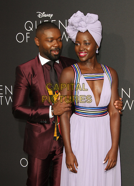 20 September 2016 - Hollywood, California - David Oyelowo and Lupita Nyong&rsquo;o. &ldquo;Queen Of Katwe&rdquo; Los Angeles Premiere held at the El Capitan Theater in Hollywood. <br /> CAP/ADM<br /> &copy;ADM/Capital Pictures