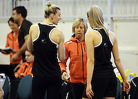 16.09.2016 Silver Ferns in action during traning ahead of the last Taini Jamison netball match between the Silver Ferns and Jamaica to be played in Rotorua. Mandatory Photo Credit ©Michael Bradley.