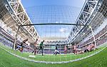 Stockholm 2014-08-31 Fotboll Allsvenskan Djurg&aring;rdens IF - Malm&ouml; FF :  <br /> Djurg&aring;rdens Haris Radetinac g&ouml;r 1-0 i den f&ouml;rsta halvleken bakom Malm&ouml;s m&aring;lvakt Robin Olsen <br /> (Foto: Kenta J&ouml;nsson) Nyckelord:  Djurg&aring;rden DIF Tele2 Arena Malm&ouml; MFF remote remotekamera jubel gl&auml;dje lycka glad happy inomhus interi&ouml;r interior