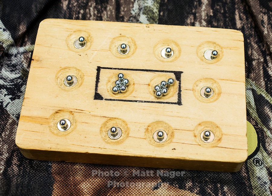 A tray with BB pellets at the 2014 Daisy National BB Gun Championship Match in Rogers, Arkansas, Saturday, July 5, 2014.<br /> <br /> Photo by Matt Nager
