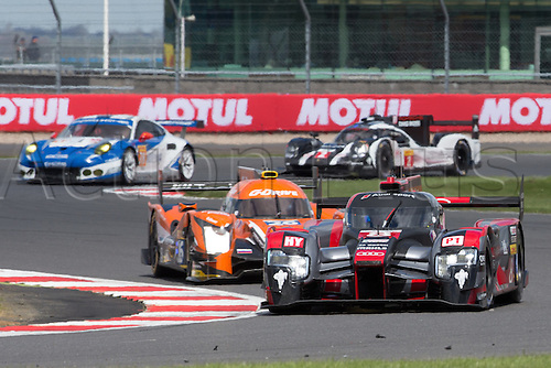17.04.2016. Silverstone, England. FIA World Endurance Championship Round 1, 6 hours of Silverstone. Audi Sport Team Joest Audi R18 e-tron quattro Hybrid LMP1 driven by Oliver Jarvis, Lucas di Grassi and Loic Duval.