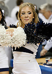 March 1, 2012: A Nevada cheerleader performs before the Nevada Wolf Pack vs New Mexico State Aggies NCAA basketball game played at Lawlor Events Center on Thursday night in Reno, Nevada.
