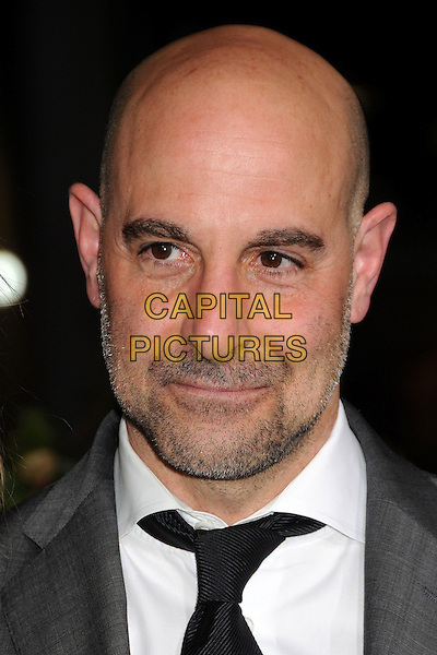 "Stanley Tucci.""Jack The Giant Slayer"" Los Angeles Premiere held at Grauman's Chinese Theatre, Hollywood, California, USA..February 26th, 2013.headshot portrait black white shirt tie grey gray stubble facial hair .CAP/ADM/BP.©Byron Purvis/AdMedia/Capital Pictures."
