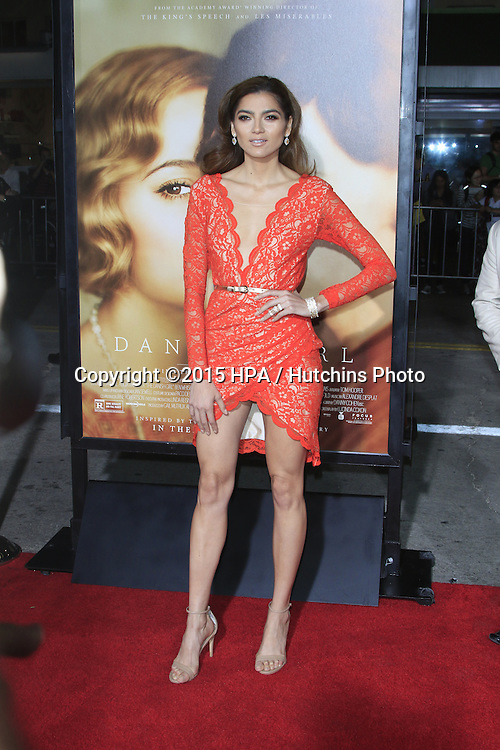 "LOS ANGELES - NOV 21:  Blanca Blanco at the ""The Danish Girl"" Premiere at the Village Theater on November 21, 2015 in Westwood, CA"