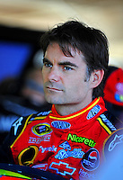 Nov. 7, 2008; Avondale, AZ, USA; NASCAR Sprint Cup Series driver Jeff Gordon during practice for the Checker Auto Parts 500 at Phoenix International Raceway. Mandatory Credit: Mark J. Rebilas-