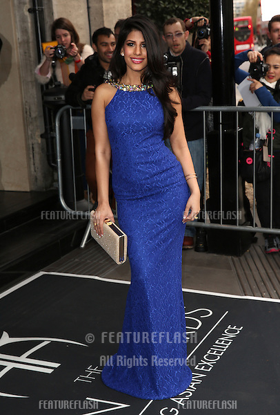 Jasmin Walia at The Asian Awards 2014 held at Grosvenor House Hotel, London. 04/04/2014 Picture by: Henry Harris / Featureflash