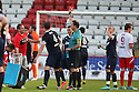 Graham Westley drinks break and red card. Mitchell Cole Benefit Match - Lamex Stadium, Stevenage - 7th May, 2013. © Kevin Coleman 2013. ..
