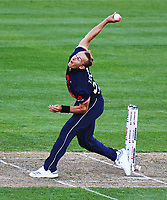 Englands Tom Curran bowls during the third ODI cricket match between the Blackcaps & England at Westpac stadium, Wellington. 3rd March 2018. © Copyright Photo: Grant Down / www.photosport.nz