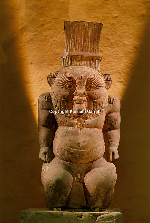 Limestone statue of the god Bes, Late Period