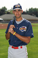 7/26/2007:  Joaquin Rodriguez of the Brooklyn Cyclones, Short-Season Class-A affiliate of the New York Mets a Dwyer Stadium in Batavia, NY.  Photo by:  Mike Janes/Four Seam Images