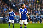 Duitsland, Gelsenkirchen, 28 april  2013.Seizoen 2012-2013.Bundersliga.FC Schalke 04 - Hamburger SV.Klaas Jan Huntelaar schreeuwt het uit en toont zijn irritatie